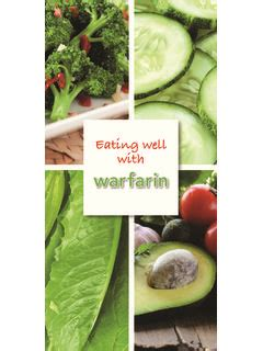 [pdf] Eating Well With Warfarin - Aspen Pharmacare.