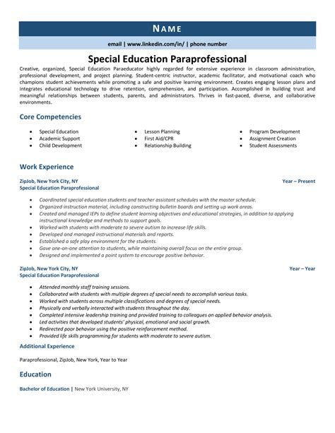 Xxxx X Keith K Resume Design Paraprofessional Samples 14