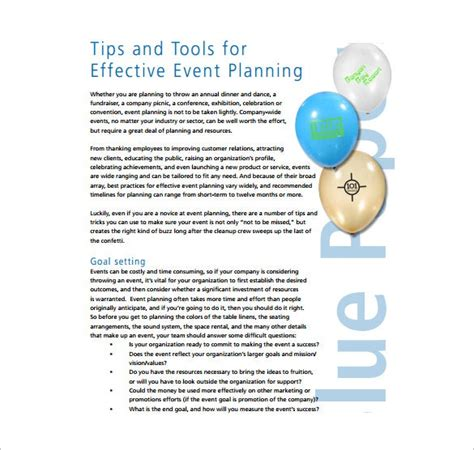 [pdf] Effective Event Planning - Template Net.