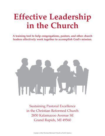 [pdf] Effective Leadership In The Church - Christian Reformed Church.