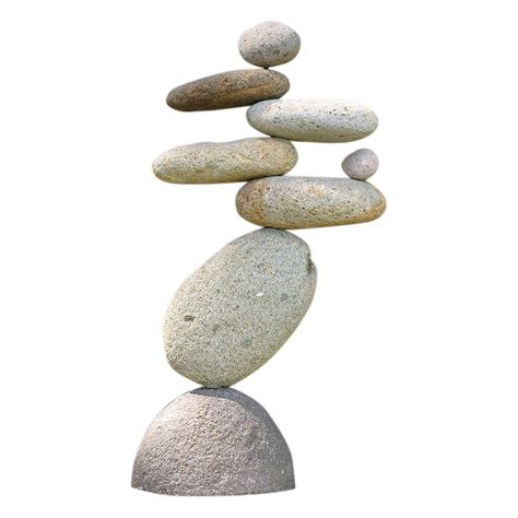 Eight-Stone Balancing Cairn - Indoor Outdoor Garden Decoration.