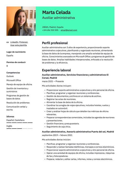 ejemplo de curriculum vitae para administrativo - Ejemplo De Cover Letter