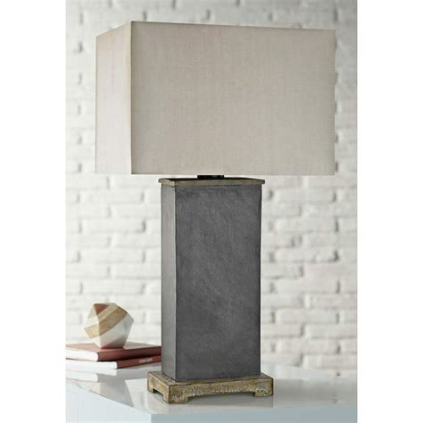 Elliot Bay Gray Slate Outdoor Table Lamp - Lamps Plus.