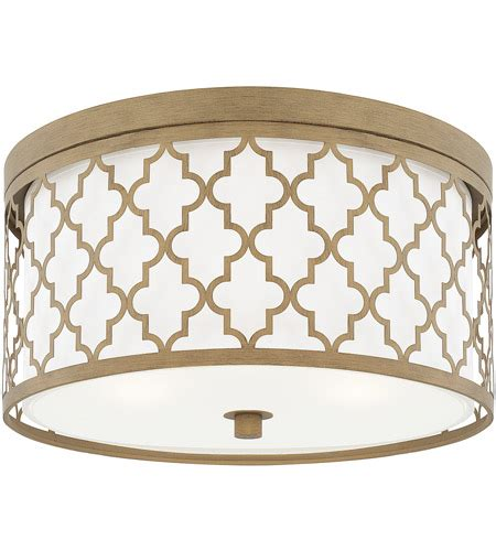 Ellis 3-Light Dual Mount Pendant In Brushed Gold Finish .