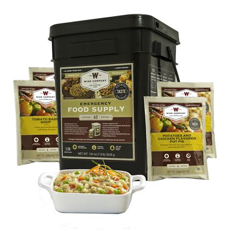 Emergency Freeze Dried Entree Bucket - 60 Serving.