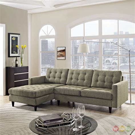 Empress Left-Facing Upholstered Sectional Sofa - Modern In .