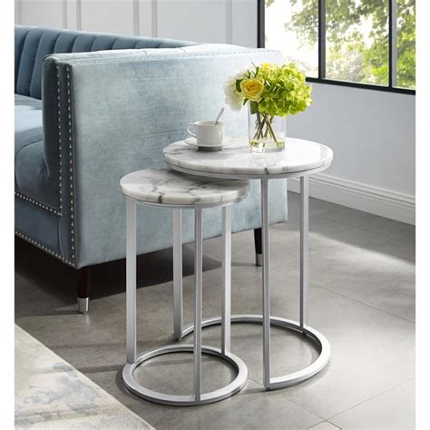 End Table Silver