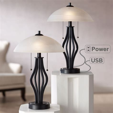 End Table With Lamp And Outlet