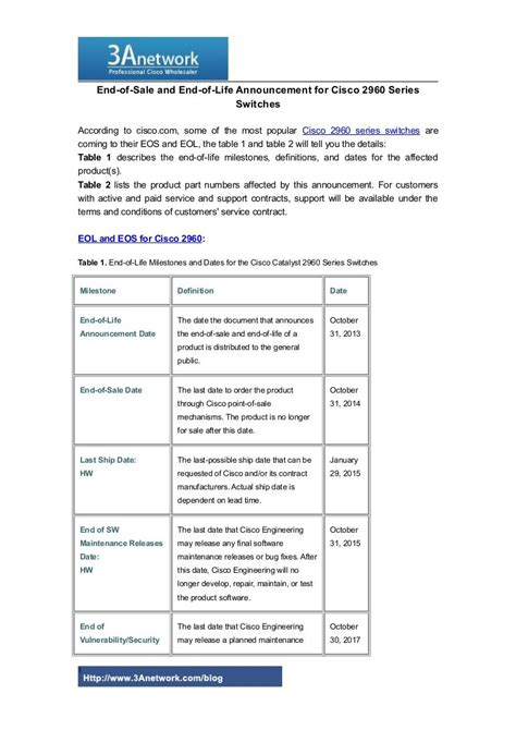[pdf] End-Of-Sale And End-Of-Life Announcement For The Cisco .