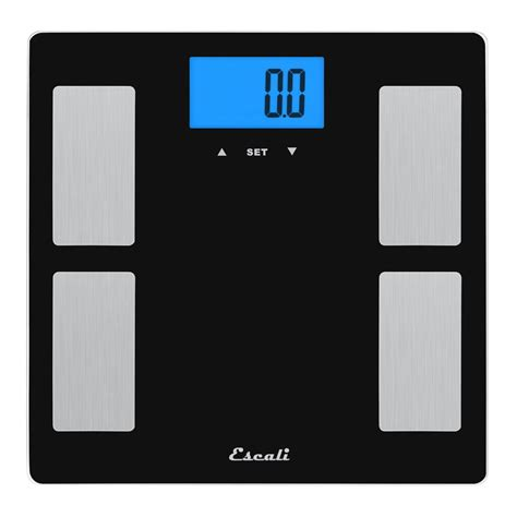 Escali Digital Glass Body Fat, Water And Muscle Mass Scale.