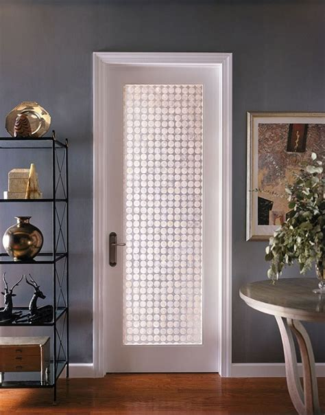 Etched Glass Doors.