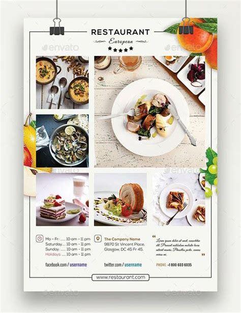 European Restaurant Flyer