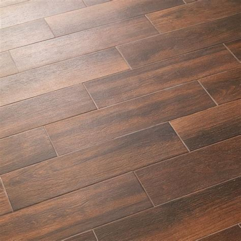 Evermore  By Daltile In Autumn Wood Features A Deep Cherry .