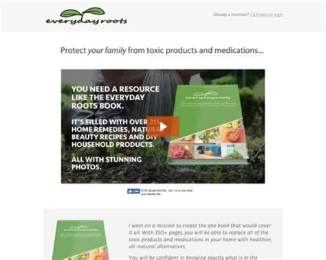 [click]everyday Roots Book - Highest Converting Natural Health Offer On Cb.
