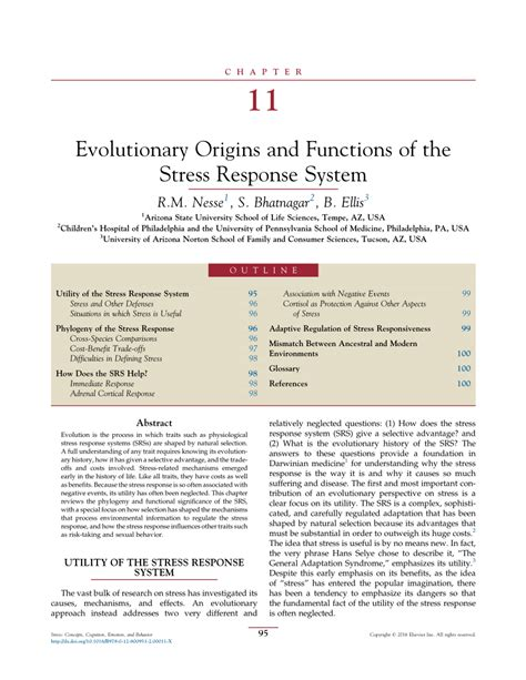 [pdf] Evolutionary Origins And Functions Of The Stress Response.