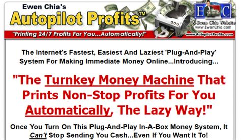 Ewen Chias Autopilot Profits Review. Too Old To Recommend.