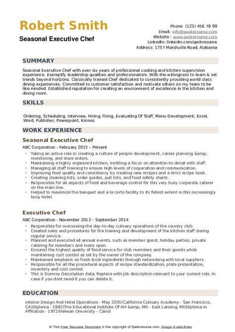 executive chef resume examples executive chef resume sample and executive chef resume pdf executive chef resume - Executive Chef Resume Sample