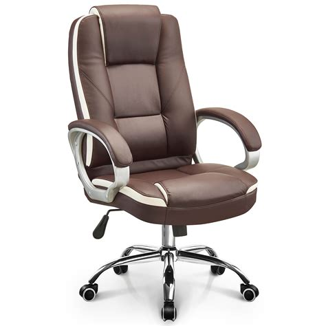Executive Office Chair Adjustable Lumbar Support Swivel .