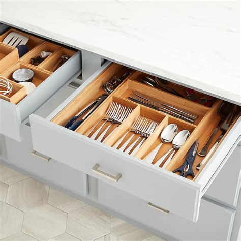 Expandable Bamboo Cutlery Tray  The Container Store.