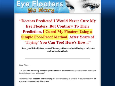 Eye Floaters No More New Niche With High Conversions - Superior.