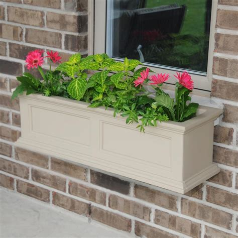 Fairfield 11 In X 36 In Plastic Window Box - The Home Depot.
