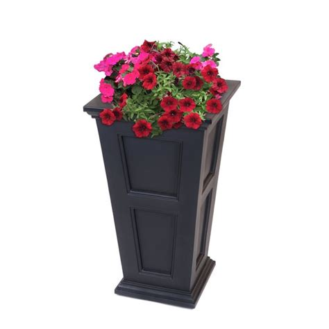 Fairfield Tall Planter Black - Walmart Com.