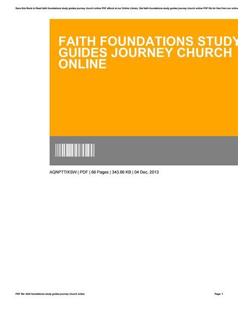 [pdf] Faith Foundations Study Guides.