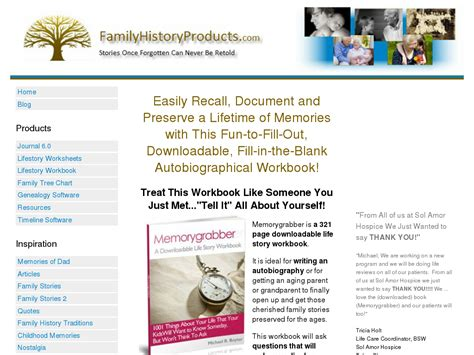 @ Familyhistoryproducts - 321 Page Downloadable Life Story Workbook Download .