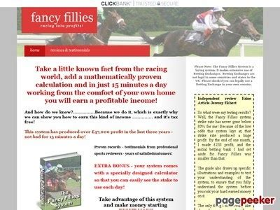 @ Fancy Fillies System Review  Betting Systems Reviewed.