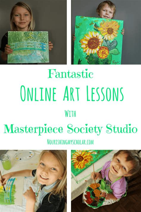 Fantastic Online Art Lessons With Masterpiece Society Studio.