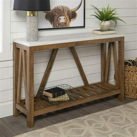 Farmhouse Console Table Plans Ebay
