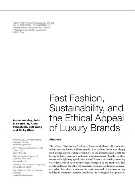 [pdf] Fast Fashion Sustainability And The Ethical Appeal F .