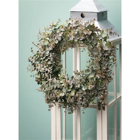 Faux Eucalyptus Wreath  Wayfair.