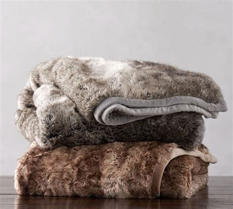Faux Fur Ombre Throws  Pottery Barn.