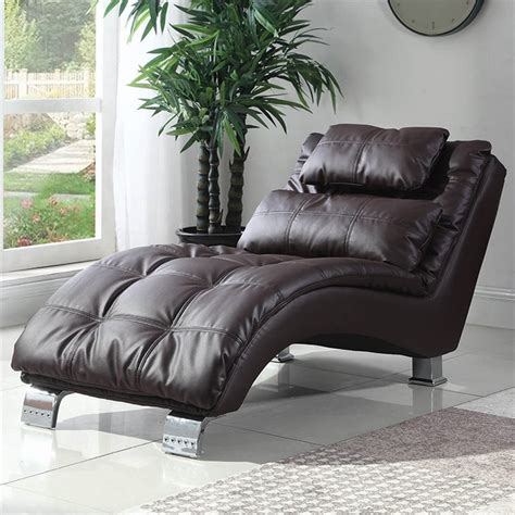 Faux Leather - Brown - Chaise Lounges - Bhg Com.