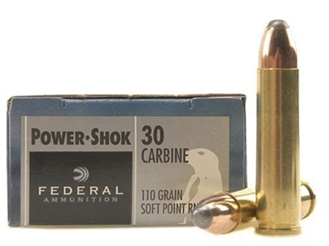 Federal Power Shok 30 Carbine 110 Grain Soft Point .