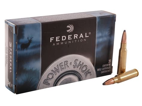Federal Power-Shok 308 Winchester 180gr Sp Rifle Ammo - 20 .