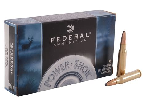 Federal Power-Shok Ammo 308 Winchester 180 Grain Soft .