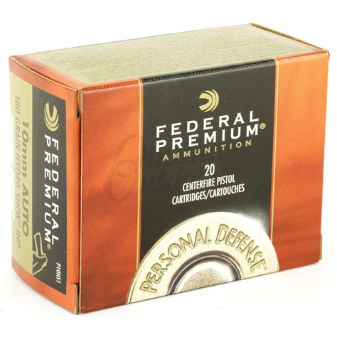 Federal Premium Personal Defense 10mm Hydra-Shok Jhp .