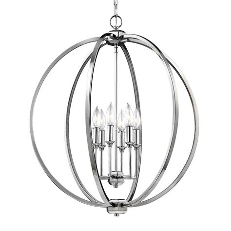Feiss Corinne 6-Light Polished Nickel Pendant-F3061 6pn .