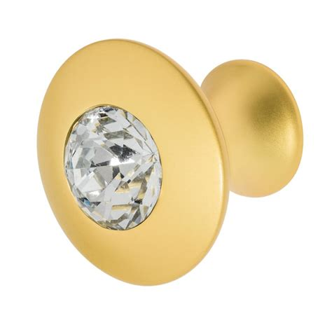 Felicia 1-1 4 In Rose Gold With Clear Crystal Cabinet Knob.