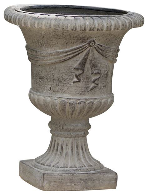 Ferrara Antique Green Stone Planter   Gdf Studio.