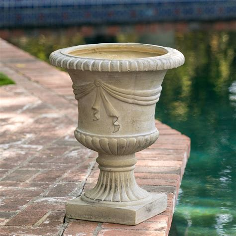 Ferrara Antique Green Stone Planter - Amazon Com.