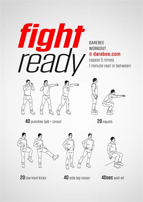 Fight Ready Workout - Darebee.