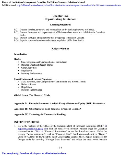 [pdf] Financial Institutions Management Saunders Solution Manual.