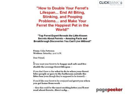 [click]find Out About Ferrets - By Small Animal Expert Colin .
