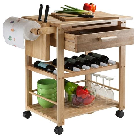 Find The Best Deals On Winsome Finland Kitchen Cart Natural.