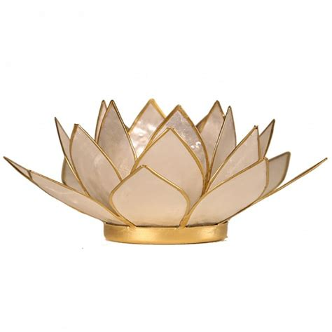 Findsomethingdifferent Lotus Tea Candle Light Holder Capiz
