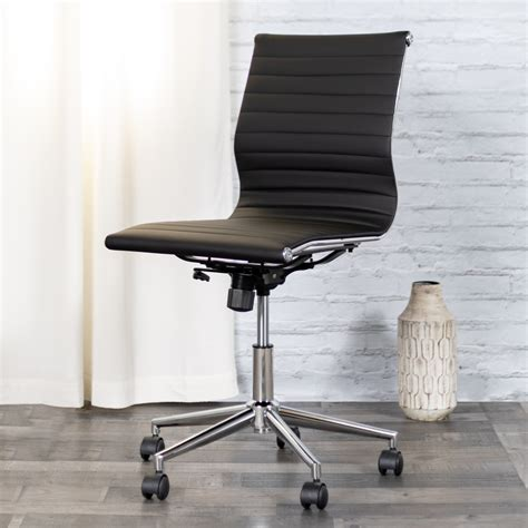 Flash Furniture Leather Conference Office Chair Armless .