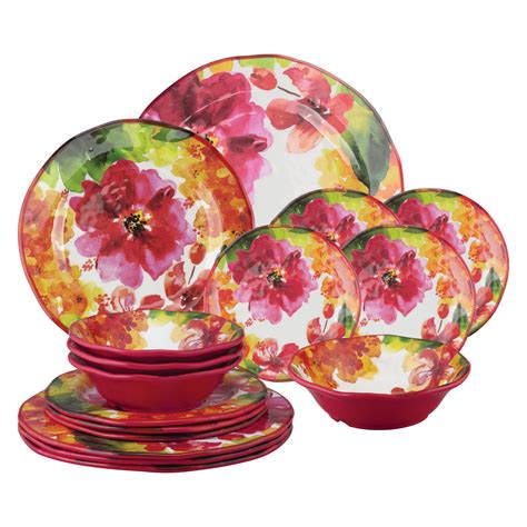 Floral 16 Piece Dinnerware Set Service For 4 By Three .